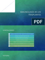Inmunologia de Los Transplantes