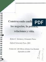 Construyendo Confianza en Los Negocios La Politica Relaciones y Vida-F.Flores_Solomon