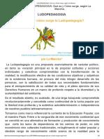 LUDOPEDAGOGIA_ Qué Es y Cómo Surge, Según La Mancha