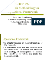 CHEP 492 Research Methodology and Operational Framewok