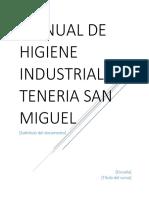 Manual de Higiene Industrial