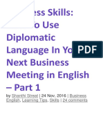 Business Skills Using Diplomaticlanguage2017