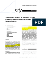 SQ - Zones of Tolerance- Alternative Scales for Measuring Information by Kettinger, Lee