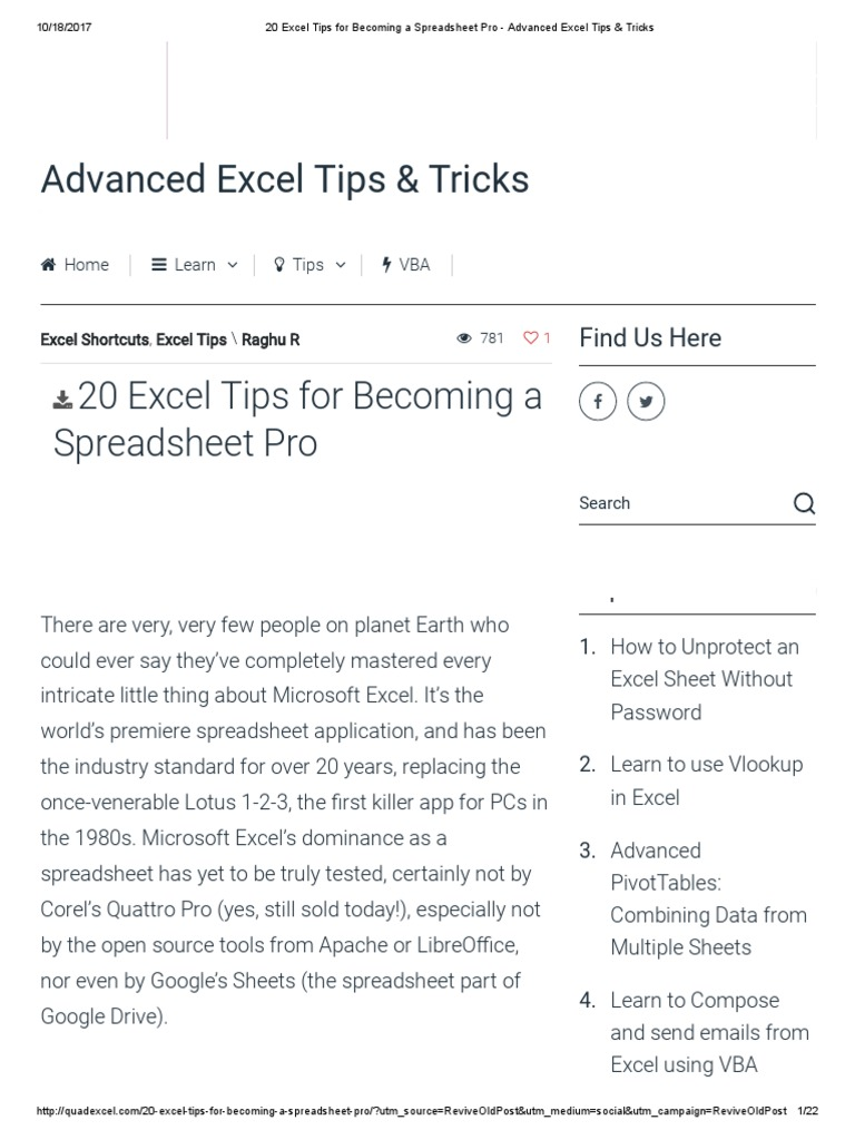 20 excel tips for becoming a spreadsheet pro advanced excel tips