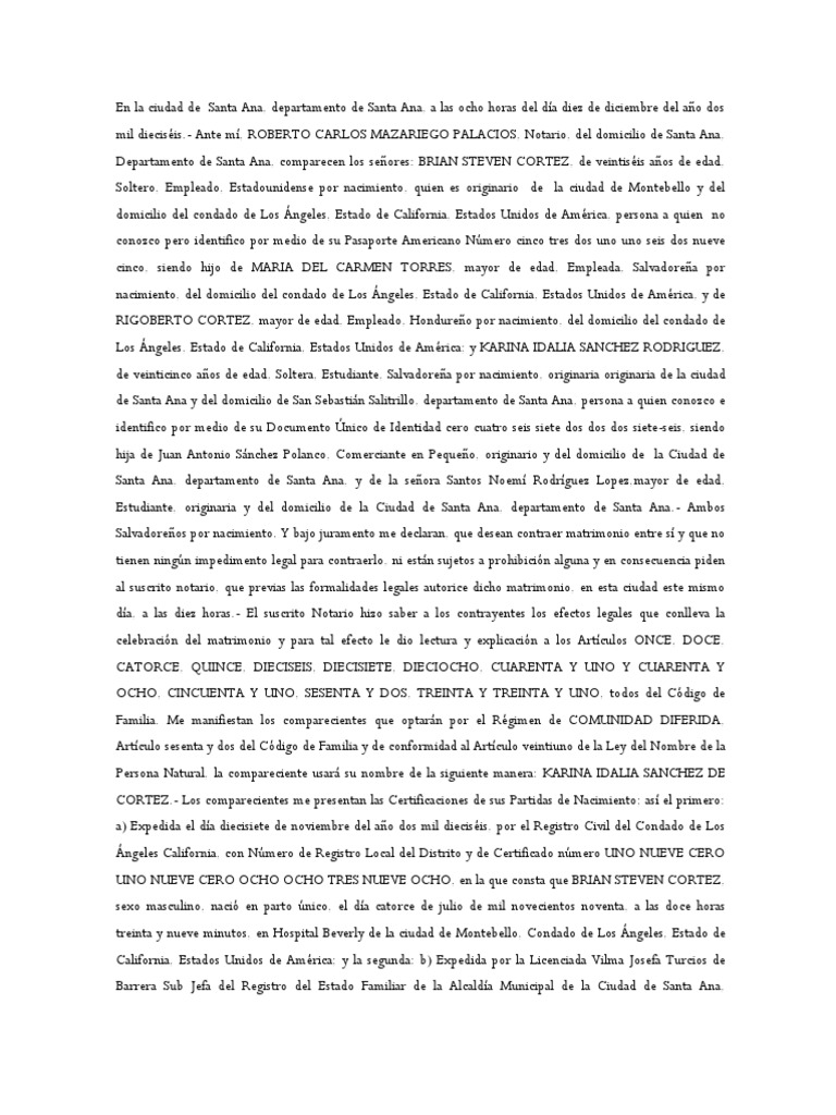 Acta Prematrimonial