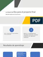 Lineamentos Para El Proyecto INDG1007