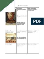 the renaissance handout
