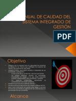 Manual de Calidad Del Sistema Integrado de Gestión