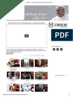 Intenciones Del Papa Francisco - Octubre 2017 Por Los Desempleados y Por Los Derechos de Los Trabajadores