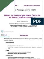 Evaluacion Psicologica en El Ambito Juridico Penal