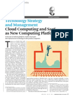 Technology Strategy and Management Cloud Computing and Saas Platform