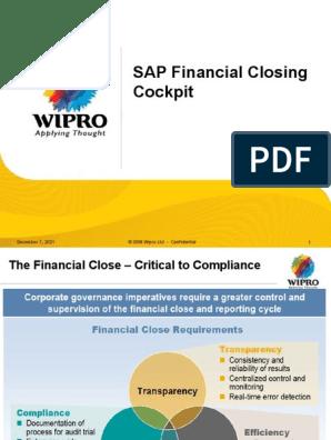 SAP Financial Closing Cockpit