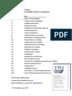 WIS 5 Welding Inspector Text Index 30-03-07