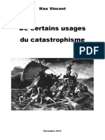 De Certains Usages Du Catastrophisme - Max Vincent (2012)