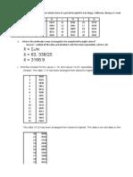 Assignment in Statistics
