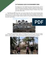 Gempa Dan Tsunami Aceh 26 Desember 2004