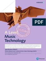 Specification GCE a Level L3 in Music Technology