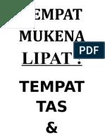 TEMPAT MUKENA