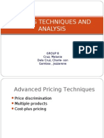 Pricing Techniques and Analysis 1.1