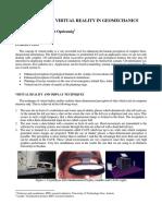 Applications of Virtual Reality in Geomechanics