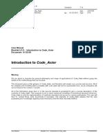 Code Aster User Manuel