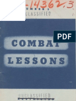 Army Combat Lessons ~ Mar 1942