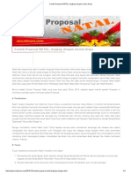 Contoh Proposal NATAL, Lengkap Dengan Rincian Biaya