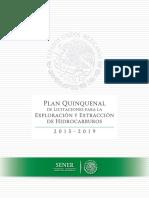 SENER - Plan Quinquenal Licitaciones Hidrocarburos