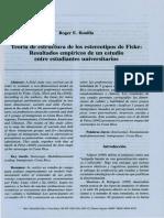 Teoria de Estructura de Los Estereotipos de Fiske Resultados Empiricos de Un Estudio Entre Estudiantes Universitarios