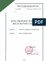 Relay Setting Values Vinh Tan 4 Ver02