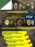 FARMAKOGNOSI 2017 PENDAHULUAN