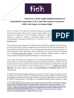 FIDH Position Note Draft