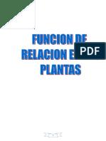 Funcion de Relacion en Las Plantas