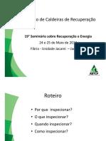 Inspeção Caldeiras de Recuperação-2012