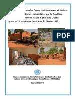 Violations et abus du droit international des droits de l'homme et du droit international humanitaire en RCA - Minusca