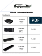Ultra GM Technologies Products Price List