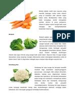 10 Sayuran Dan Manfaat