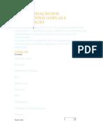 Caracterização Dos Equipamentos Janelas e Climatização
