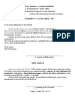 Requerimento 2017 Aprove Facil
