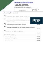 Biochem Final Term Exam