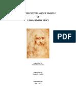 Multiple Intelligence Reflection on Leonardo Da Vinci