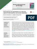 Autorregulación Del Aprendizaje en La Educación