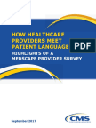 CMS OMH How Healthcare Providers Meet Patient Language Needs