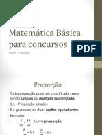 Matemática Básica Para Concursos Aula 9 Proporção