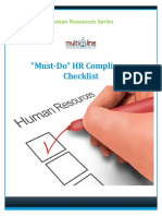 Must Do HR Checklist