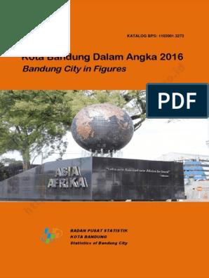 Kota Bandung Dalam Angka 2016