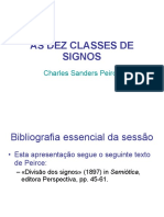 As Dez Classes de Signos de Peirce