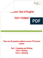 PTE Test Format