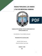 Tesis Ganancia de Peso Materno y Peso Del Recién Nadico en Un Hospital Regional