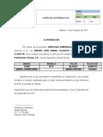 Carta de Autorizacion Vehiculos